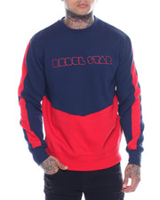 Buyers Picks - Cut and Sew Zip Detail Crewneck Sweatshirt-2321724