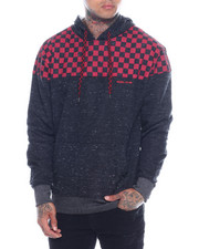 Hoodies - CHECKERBOARD CHEST HOODIE-2321696