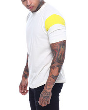 Buyers Picks - Contrast Sleeve Scoop Hem Tee-2321468