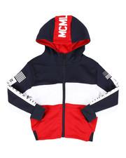 color block tech fleece hoodie (4-7)