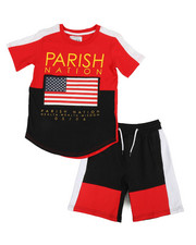 Boys - Americana Sport 2 Piece Short Set (8-20)-2318505