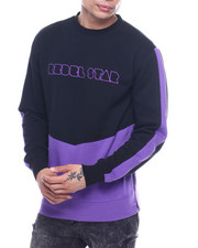 Buyers Picks - Cut and Sew Zip Detail Crewneck Sweatshirt-2321972