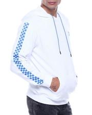 Men - Checkerboard Tape Sleeve Hoodie-2322106
