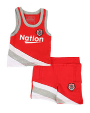 Boys - Basketball Color Block 2 Piece Set (2T-4T)-2318528