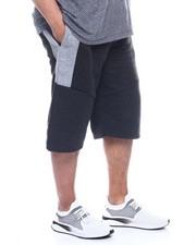 Phat Farm - Fleece Moto Jogger Shorts Wax Zipper (B&T)-2321850