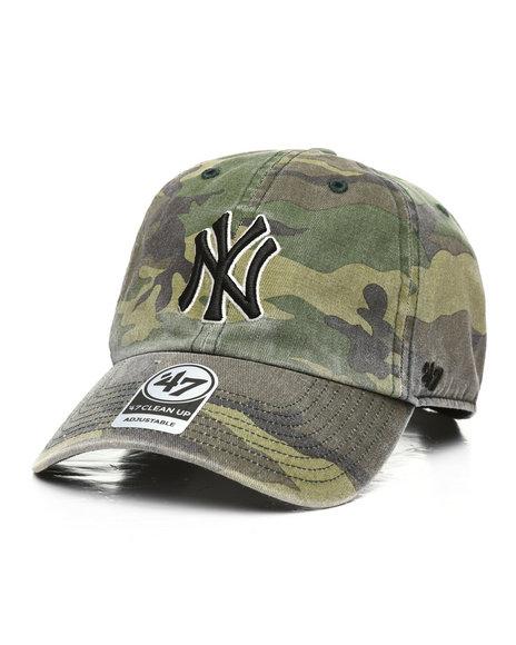 '47 - NY Yankees Camo Strapback Hat