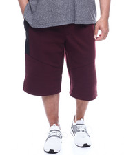 Phat Farm - Fleece Moto Jogger Shorts Wax Zipper (B&T)-2321846