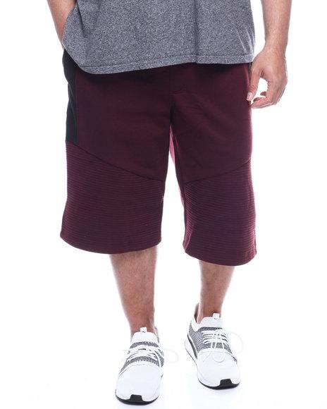 Phat Farm - Fleece Moto Jogger Shorts Wax Zipper (B&T)