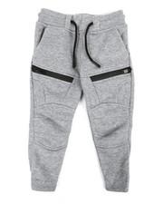 Sizes 2T-4T - Toddler - Fleece Moto Joggers W/ Waterproof Zippers (2T-4T)-2320303