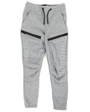Bottoms - Fleece Moto Joggers W/ Waterproof Zippers (8-20)-2320307