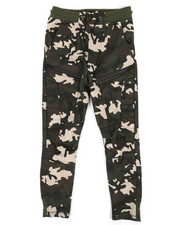 Bottoms - Fleece Moto Camo Joggers W/ Waterproof Zippers (8-20)-2320342