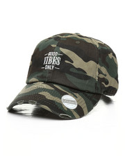Men - Vintage Good Vibes Only Camo Dad Hat-2317538