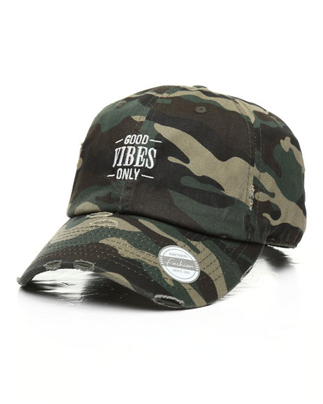 Buyers Picks - Vintage Good Vibes Only Camo Dad Hat