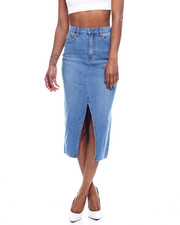 Bottoms - 5PKT FRT Slit MIDI Denim Skirt-2322611