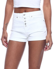 Bottoms - 5 BTTN Roll Cuff High Waist Denim Short-2322492