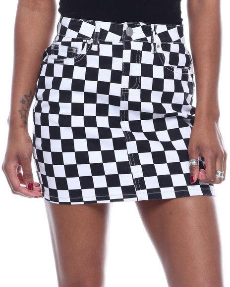 Almost Famous - 5PKT 1BTTN Frayed Hem Denim Skirt