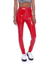 Bottoms - Vinyl Zip Front Pant-2322370