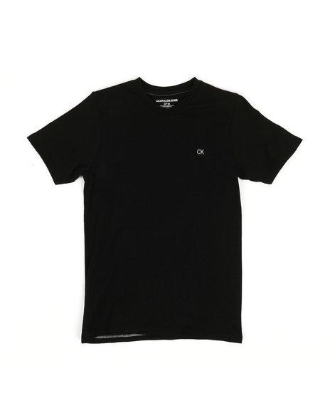 Calvin Klein - Solid Logo V-Neck T-Shirt (8-20)