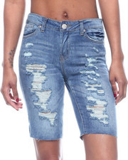 Bottoms - Destructed 5PKT Denim Bermuda-2322435