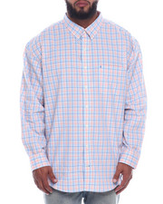Izod - L/S Button Down Small Plaid (B&T)-2323086