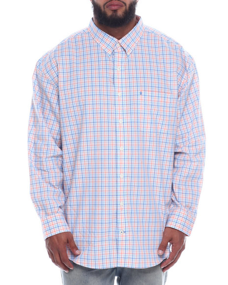 Izod - L/S Button Down Small Plaid (B&T)