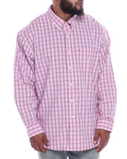 Izod - L/S Button Down Small Plaid (B&T)-2323083