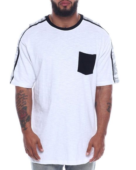 Buyers Picks - Crew Neck W/ Contrast Pocket + Neck Printed Stripe (B&T)