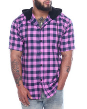 Fly Society - Hooded Button Down Shirts (B&T)-2322230