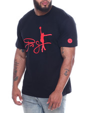 Big & Tall Faves - Dr. J Cotton Tee W/ Raised HD Rubber Detail (B&T)-2323132
