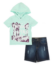 Buffalo - 2 Piece Graphic Hooded Tee & Denim Shorts Set (2T-4T)-2321244