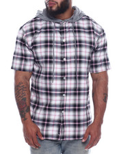 Fly Society - Hooded Button Down Shirts (B&T)-2322226