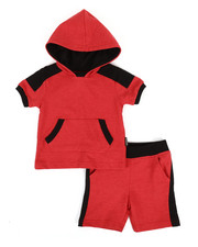 Buffalo - 2 Piece Marled Jersey Hooded Tee & Shorts Set (2T-4T)-2321285