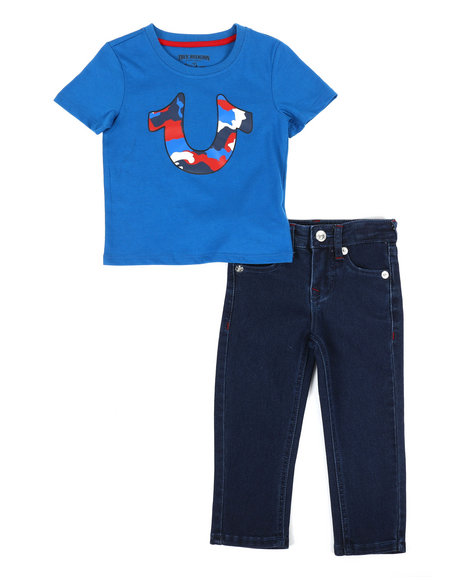 True Religion - 2 Piece Camo Tee & Denim Jeans Set (2T-4T)