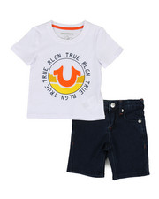 True Religion - 2 Piece HS Tee & Shorts Set (2T-4T)-2321208