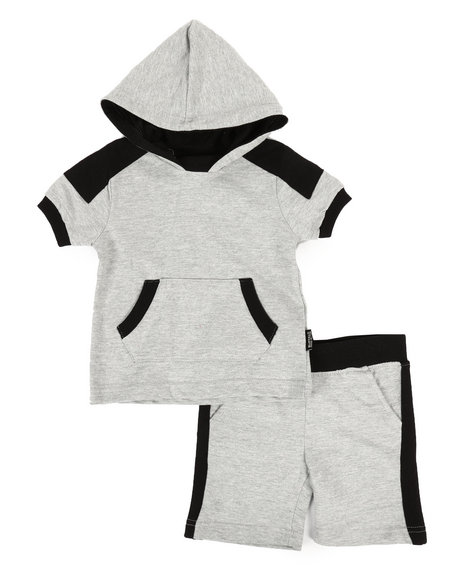 Buffalo - 2 Piece Marled Jersey Hood Tee & Shorts Set (2T-4T)