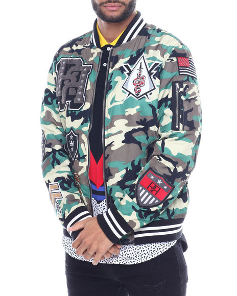 Reason - DISTRICTS CAMO VARSITY JACKET