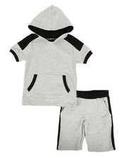 Buffalo - 2 Piece Marled Jersey Hood Tee & Shorts Set (4-7)-2321342