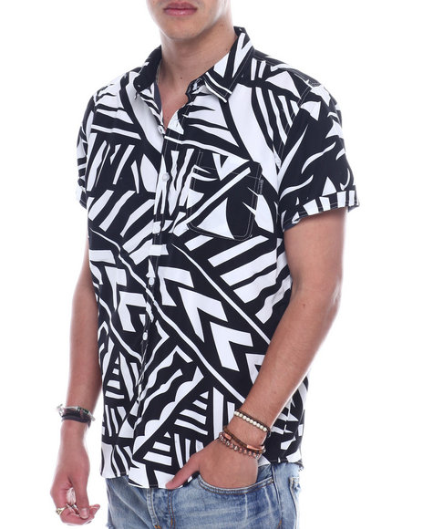 SWITCH - Abstract Print SS Woven