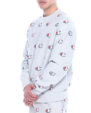 Champion - REVERSE WEAVE ALL OVER SCRIBBLE LOGO CREW-2323470