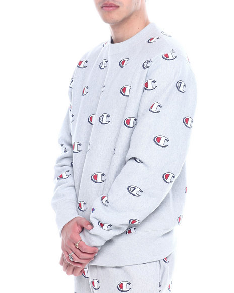 Champion - REVERSE WEAVE ALL OVER SCRIBBLE LOGO CREW