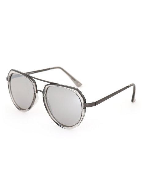 Steve Madden - Plastic/Metal Combo Sunglasses