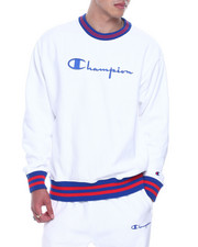 Champion - VINTAGE SCRIPT EMBROIDERED CREWNECK SWEATSHIRT-2323442