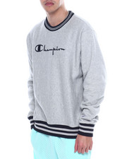 Champion - VINTAGE SCRIPT EMBROIDERED CREWNECK SWEATSHIRT-2323459