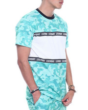 SWITCH - Mesh Camo ColorBlock Tee-2323300