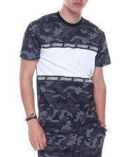 SWITCH - Mesh Camo ColorBlock Tee-2323271