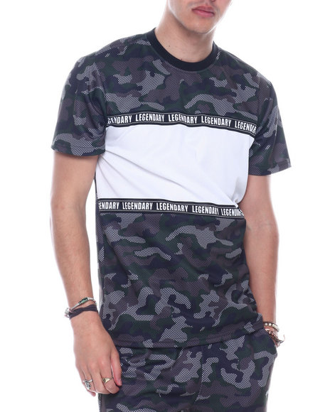 SWITCH - Mesh Camo ColorBlock Tee