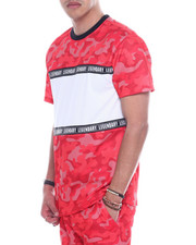 SWITCH - Mesh Camo ColorBlock Tee-2323318
