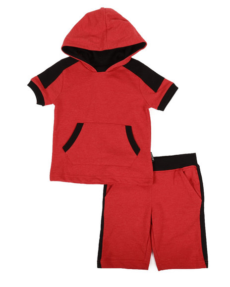Buffalo - 2 Piece Marled Jersey Hooded Tee & Shorts Set (4-7)