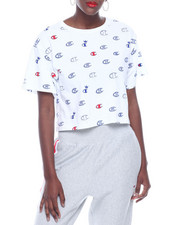 Women - Crop Tee W/Allover Print-2322287