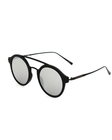 Steve Madden - Round W/ Metal Brow Bar Sunglasses